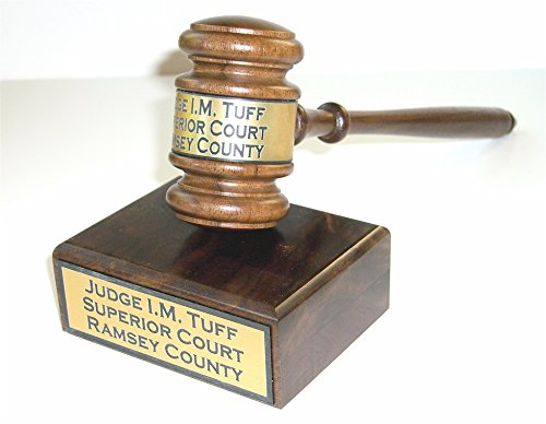 Gavel & Sound Block with Engraving