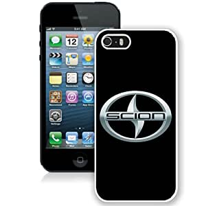 Popular And Durable Custom Designed Case For iPhone 5 With Scion Logo White Phone Case