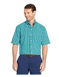 Arrow–Camisa de Manga Corta para Hombre Hamilton Poplin, Quetzel Green, XX-Large