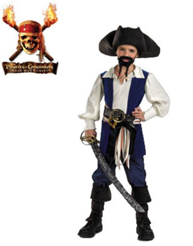 Standard Jack Sparrow Costume - Large (Jack Sparrow Boys Costume)