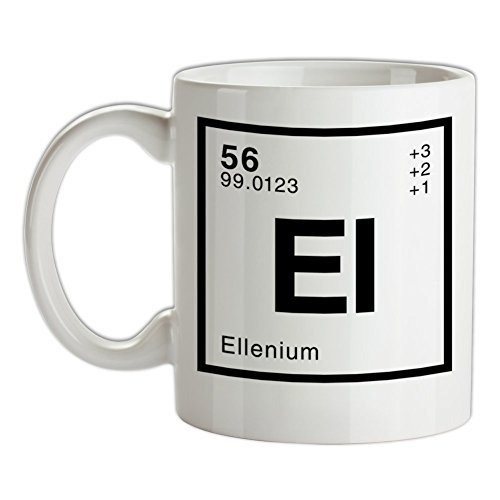 628 Violet - ELLEN - Periodic Element White Ceramic Coffee Mug 11oz