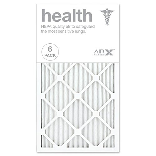 AIRx HEALTH 14x25x1 MERV 13 Pleated Air Filter - Made in the USA - Box of 6
