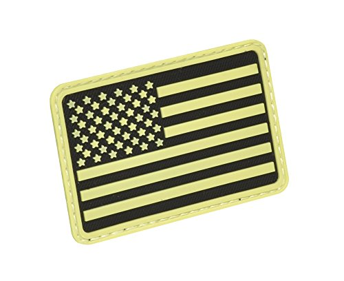 Hazard 4 US Flag Rubber 3D Velcro Morale Patch, Left Arm, Gl