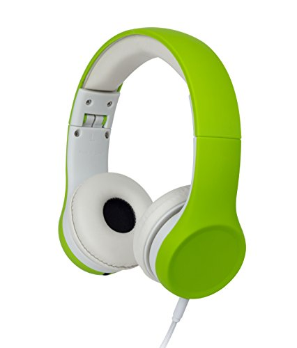 Headphone Earphone Green (Snug Play+ Kids Headphones Volume Limiting and Audio Sharing Port (Green))