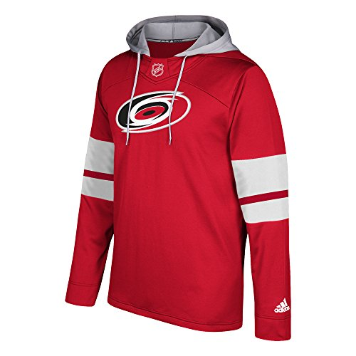 fan products of NHL Carolina Hurricanes Mens Silver Jersey Hoodsilver Jersey Hood, Red, Small