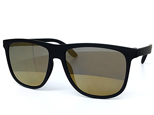 O2 Eyewear 26001 Premium Soft Oversize Matte Finish Mirror Womens Mens Sunglasses (MATTE BLACK, BROWN - Finish Sunglasses Mirror
