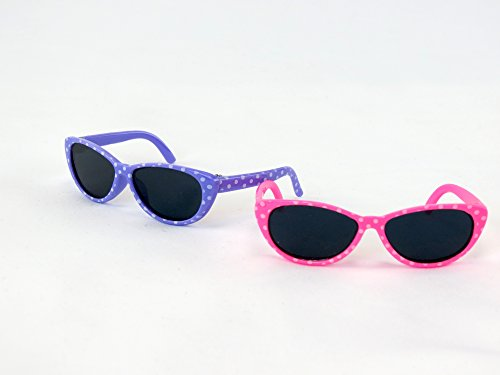 Two Pairs of Sunglasses Pink and Purple | Fits 14