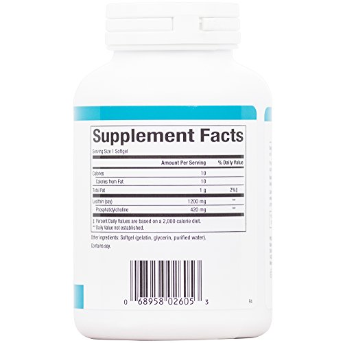 Natural Factors – Phosphatidyl Choline (PC) 420mg, Supports Healthy Liver Function, 90 Soft Gels
