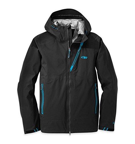 Outdoor Research Men's Axiom Jacket Black / Hydro XL & Cap Bundle