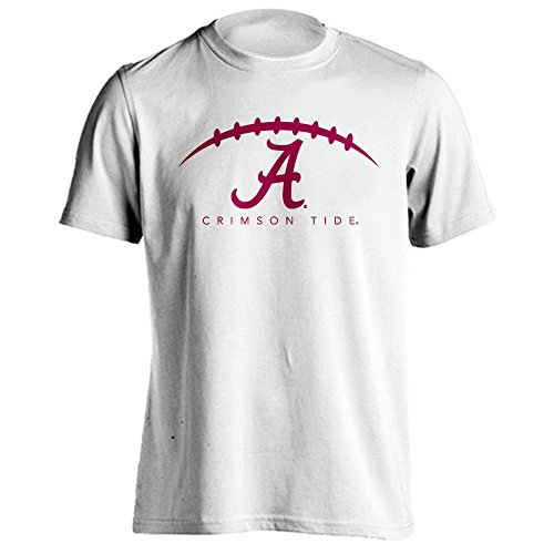 Alabama Crimson Tide Football Logo Short Sleeve Adult T-Shirt (White, (Conference White T-shirt)