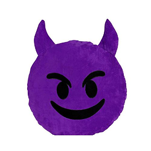 18'' Emoticon Devil Pillow by Bargain World