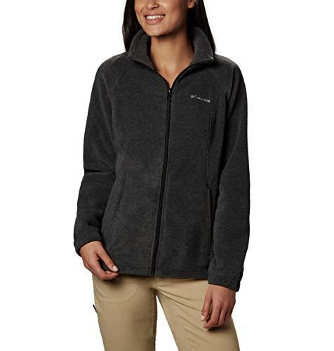 Columbia Women's Benton Springs Classic Fit Full Zip Soft Fleece Jacket, Charcoal Heather, Medium Columbia Full Zip Fleece