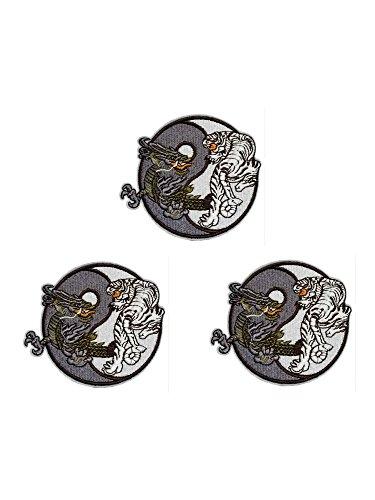Ying Yang Tiger Dragon Logo- 3 Pack - 4