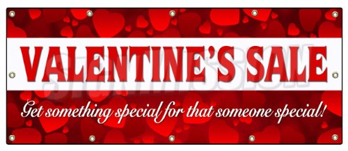 amazoncom 48x120 valentines day sale banner sign sale holiday valentine romantic love office products - Valentine Sale