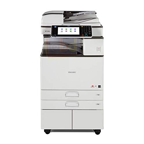 (Ricoh Aficio MP 2554 Ledger/Tabloid-size Mono Laser Multifunction Copier - 25ppm, Copy, Print, Scan, 2 Trays and Stand)