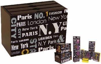 Caja de almacenaje, diseño de ciudad, para 60 fotos: Amazon.es: Hogar