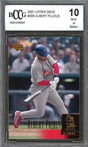 (2001 upper deck #295 ALBERT PUJOLS st louis cardinals rookie card BGS BCCG 10 Graded Card)