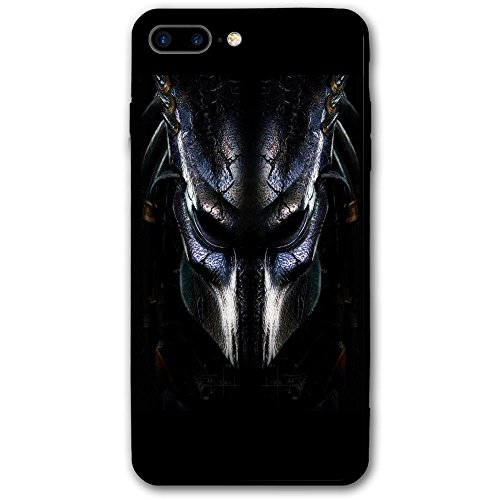 Predator Mask IPhone 8 Plus Case Full Body Protection Apple Only (5.5-inch) - Black Screen Protector 3D Printed Bumper Protective Cute (Best Predator Mask)