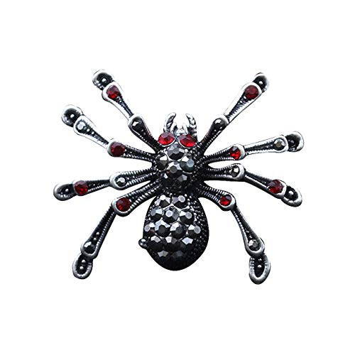 JJTZX Animal Brooch Pins-Bee Brooch Hummingbird Brooch Spider Brooch Giraffe Brooch Christmas Holiday Gift (Spider)