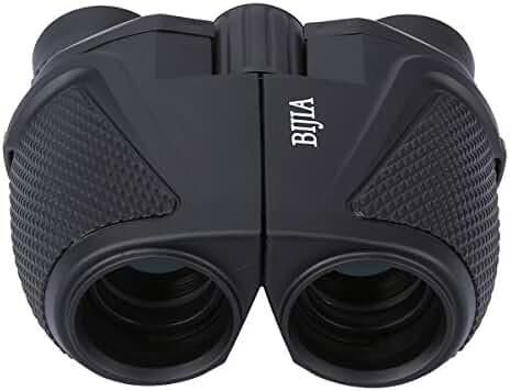 G4Free 12x25 Waterproof Binoculars(BAK4,Green Lens),Large Eyepiece Super High-Powered Field Surveillance Binoculars