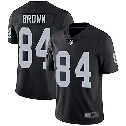 Mitchell & Ness Men's Oakland Raiders Antonio Brown Black Game Jersey #84 (Black, M)