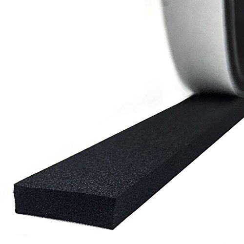 Foam Seal Tape, High Density Foam Seal Strip Self Adhesive Weather Stripping Insulation Foam 1/2 Inch Wide X 1/8 Inch Thick X 50 Feet Long (1/2in 1/8in)
