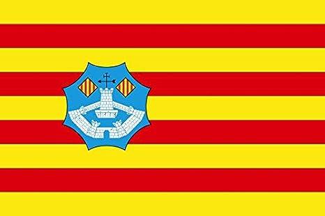 Banderas Online - Bandera de Menorca Tamaño 150x100 para Exterior: Amazon.es: Deportes y aire libre