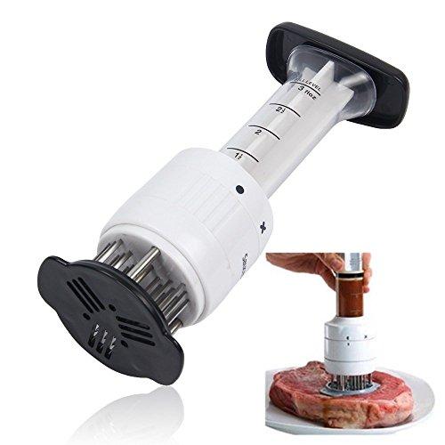(Wewin Multifunctional Meat Tenderizer Needle Stainless Steel Steak Meat Injector Marinade Flavor Syringe Kitchen Tools)