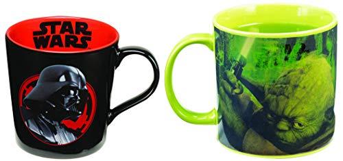 Vandor Star Wars - Yoda and Darth Vader - Set of 2 Ceramic Coffee Mugs ()