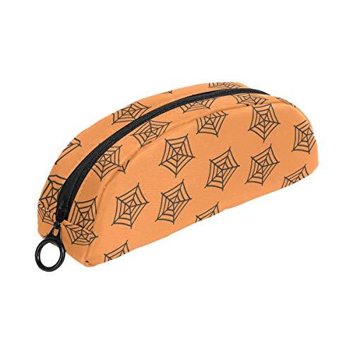 FANTAZIO Pen case for Girls Spider Net Halloween Make up Pouch -