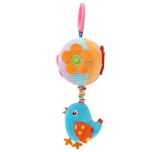 a2s8wq Toys Baby Infant Cartoon Animal Plush Crib Stroller Hanging Toys Rattle Stuffed Doll Baby Toy Baby Educational Toy Bird