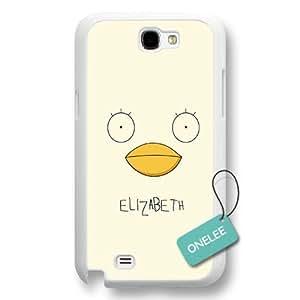 Onelee(TM) Gintama Logo Samsung Galaxy Note 2 Case & Cover - Japanese anime Elizabeth Samsung N2 - White02 by ruishername
