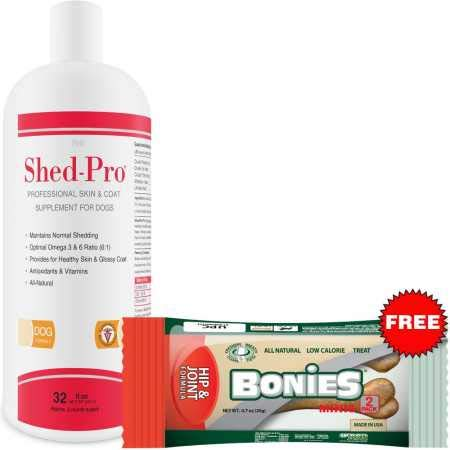 Cheap Pet Health Solutions Shed Pro for Dogs – Vitamins, Minerals, Natural Oils – Moisturized Skin and Shiny Coat – Control Normal Shedding – Supplement for Healthy Skin – 24 fl oz