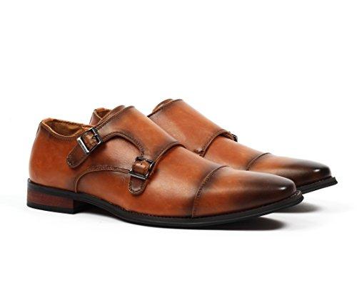 1df9e5eede81 Santino Luciano Luca Men s Cap-Toe Monkstrap Dress Shoes