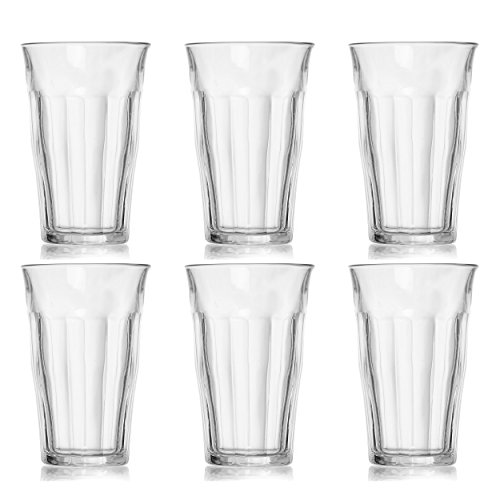 Sonoma Glass Desk - Duralex Made In France Picardie Tumbler Set of 6, 17.62 oz