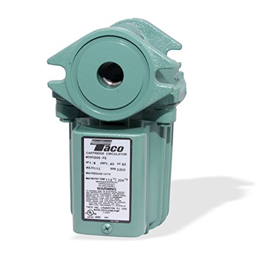 Circulator Pump Iron Cast (Taco 009-F5 Cast Iron High Velocity Cartridge Circulator Pump)