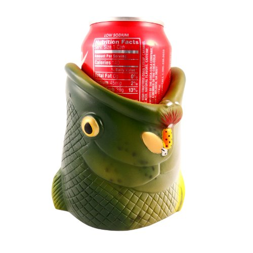 Beer Can Holder Double Walled Can Drink Holder (Bass Fish Cup Holder) (Beer Can Collectibles)