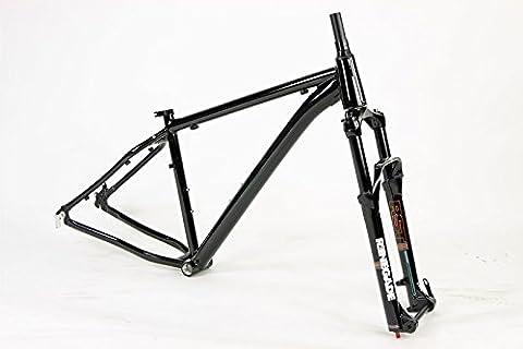 Unbranded Aluminum Fat Bike Frame Set RST Renegade Suspension Fork (16in) - Gravity 16 Inch Bike