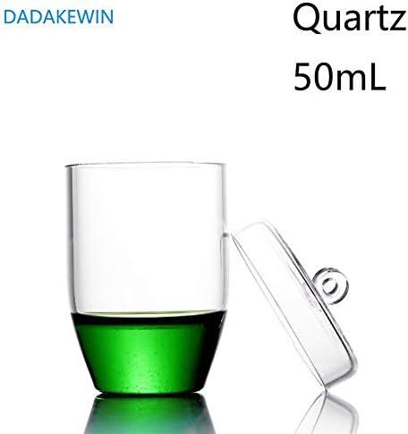 DADAKEWIN 50 Ml Quarztiegel Mit Deckel Hochtransparente Laborchemiegeräte Mit Hoher Temperaturbeständigkeit (Color : Clear, Size : 50ml)