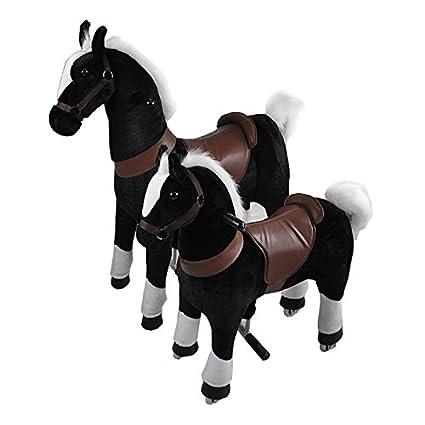 Toy Ride Cheval à roulettes Stable, Durable, de Haute qualité et Beau Design (Brun Moyen)