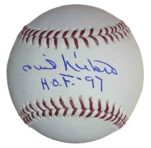 Autographed Phil Niekro Baseball - OML HOF 97 12587 - Autographed ()