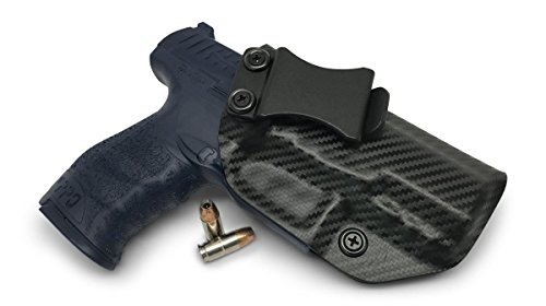 Concealment Express IWB KYDEX Holster: fits Walther PPQ M1/M2 (4 - 9mm) - Custom Fit - US Made - Inside Waistband - Adj. Cant/Retention (CF BLK, Left)