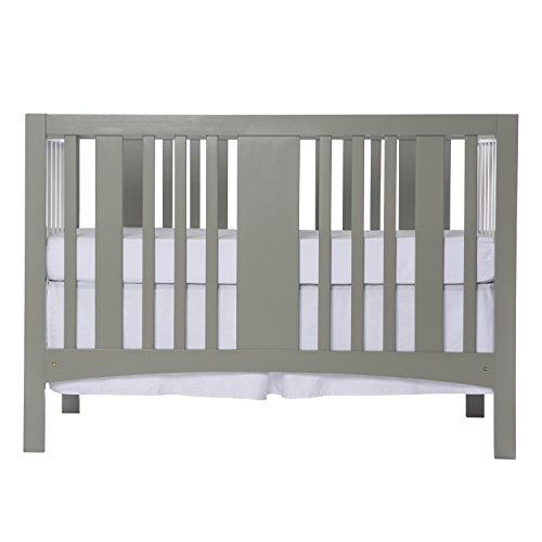 Dream On Me Havana 5 in 1 Convertible Crib, White and Grey