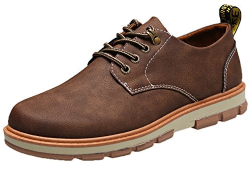 Herren Leder Schuhe Wildleder Klassiker Oxfords Schnürhalbschuhe von Santimon Braun 40 2DFhI4zti