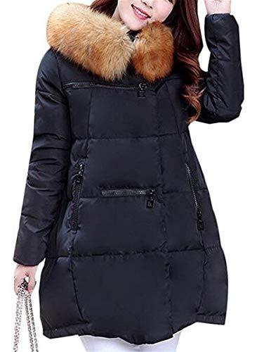 Femme Oversize Hiver Doudoune Fourrure Manteau avec Capuchon El Parka T5xFvqwx