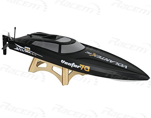 - 2.4Ghz Radio Control Control Vector 70 (cm) Super High Speed Race Boat ABS Unibody RC PNP w/ESC Brushless Motor (Color May Vary)