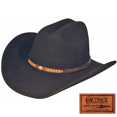 Outback Trading Co Men's Co. Out Of The Chute Upf50 Sun Protection Crushable Hat Black Large