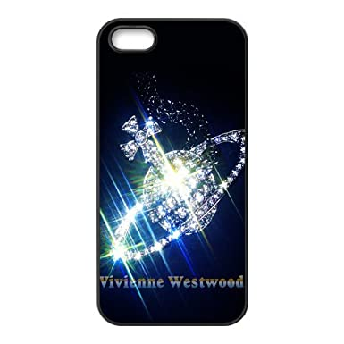 free shipping 35754 d8a75 Famous Clothes Brand Vivienne Westwood Printed Case Cover for iphone  5,5S(Laser Technology,Back TPU & side Silicone)