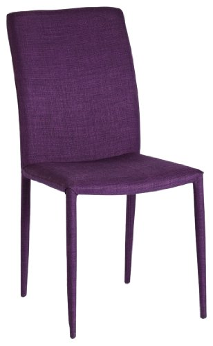 Moe's Home Collection Mena Dining Chair, Purple, Set of 2
