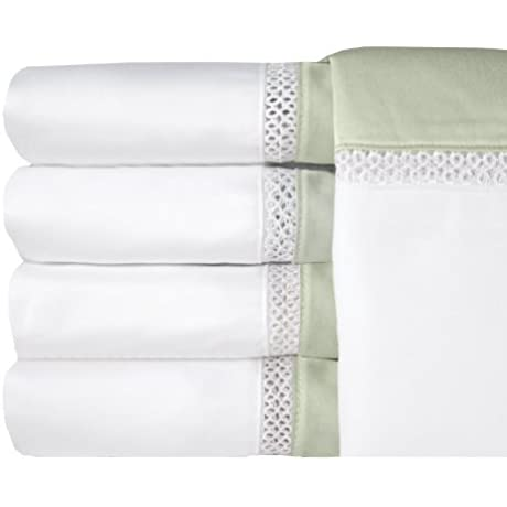 MADE IN THE USA Duet 500TC 100 Cotton Sateen Sheet Set King Sage By Veratex By Veratex Inc